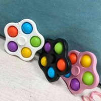 Com corredura DNA Stress Balls Chaveiros Fidget Simples Dimple Brinquedos Bubble Poppers Chave Anel Push Pop Spinner Board Stress Relevo Decompression Dedo Bolhas G47W6PG