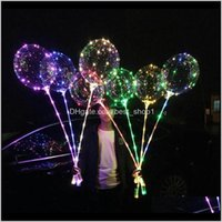 Event Festive Supplies Home Garden Drop Delivery 2021 Led With 31Dot5Inch Stick String Balloon Light Christmas Halloween Wedding Birthday Par