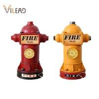 VILEAD 24cm Resin Hydrant Figurines Piggy Bank Fire Extinguisher Ornament Creative Gift For Children Decoration Hogar Craft