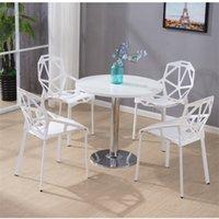 인기 있고 실용적인 작은 라운드 협상 수신 테이블 라이트 럭셔리 간단한 흰색 오크 공장 직접 판매