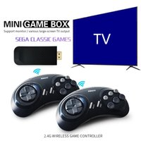 SG800 2.4G Wireless Game Controller 16Bit Classic Retro Video Games Console With Dual Gamepads for SEGA MD Stick Output 4K HD TV Gaming