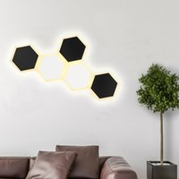 Wall Lamp Hexagon Patchable Sconces Light Fixture For Dinning Room Bar Bedroom Bathroom Creative LED Lighting Decor