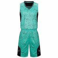 Customizedjerseys 2021 على الانترنت رخيصة كرة السلة جيرسي مجموعة للرجال أفضل جودة الأخضر