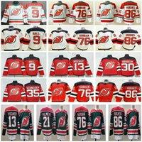 2021 Reverse Retro New Jersey Devils Hockey 86 Jack Hughes 76 PK 서브반 35 코리 슈나이더 13 Nico Hischier 30 Martin Brodeur 9 테일러 홀 21 카일 Palmieri 유니폼