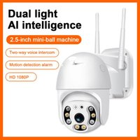 Cameras Wifi Camera 1080P H.265 US EU Wireless Mini Webcam Audio IR Dual Light Motion Alarm Cloud Storage PTZ Security