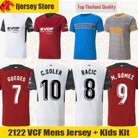 20 21 22 Valencia Camisas de futebol C.SOLER 2021 2122 CUTRONE Valencia CF GAMEIRO OLIVA GAYA GAYA Camisa M.GOMEZ G.PAULISTA homens crianças kit