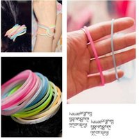 100pcs lot Fashion Bracelet Weaving Bands Jewelry Colorful Solid Color Silicone Hand Ring Cute Student For Hair Tie Bangle