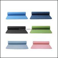 Mats Yoga Fitness Supplies Sports & Outdoorsyoga Mat Tasteless Non Slip Motion Cushions Body Building Pad Mti Color High Density Position Li