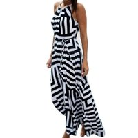 Casual Dresses Summer Dress Women Sexy Boho Maxi Stripe Long Evening Party Beach Sundress Cover Up Vestidos 2021#4