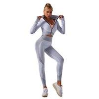 단색 원활한 조깅 의류 여성 ourdoor 실행 레깅스 섹시한 피트니스 바지 높은 허리 스포츠 의류 운동 착용