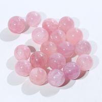 5 PCS Naturel Crystal Rose Ball 25mmClear Quartz Sphère Aura Angel Chakra Orb Minéraux Guérison Massage Cadeaux