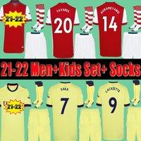 Player Version Arsenal Fans 24 Arsen Fußballtrikot 20 21 22 Kanoniere ODEGAARD THOMAS PEPE SAKA TIERNEY HENRY WILLIAN SMITH ROWE 2021 2022 Fußballtrikot Kid setzt Uniform