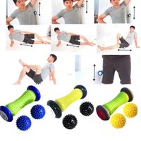 Fitness Balls 3pcs Spiky Hand Massage Ball Set Foot Back Roller Yoga Masage For Deep Tissue Physiotherapy Anti Stress Cone