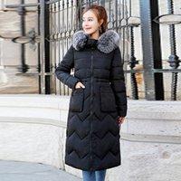Beide Seiten können trugen 2020 Frauen Winterjacke Neue Ankunft mit Pelz mit Kapuze Lange Mantel Baumwolle Gepolsterte Warm Parka Womens Parkas1