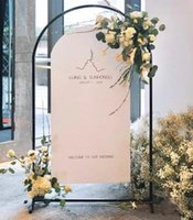 Party Decoration Wedding Arch Flower Ceremony Wrought Iron Square Tube Backdrop Stand Black Gold Partty Stage Background