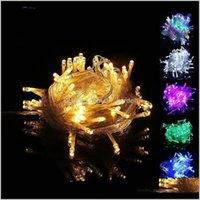 Süslemeleri 10 m LED Dize 100 Işıklar Noel Dekorasyon Işık 110 V Yıldızlı Parti Düğün Festivali Küçük Lantern XD22200 UXRLE TCJBW