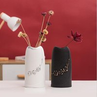 Vases Ins Home Ceramic Vase White Simple And Creative Chinese Style Dried Flower Decoration Ornaments Floral Hydroponic Living Room