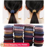 Women Simple Basic Elastic Hair Bands Ties Scrunchie Ponytail Holder Rubber Headband Girls Fashion Hairs Accessories
