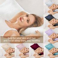 2pcs Silk Satin Pillowcases Mulberry Pillow Case Queen Standard King per capelli e pelle Cover Iypoallergenic Fodera