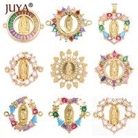 Juya Jungfrau Maria Anhänger Christian Connectors Schmuck, die Charms für handgemachte Womens Armband Halsketten Mode Zubehör