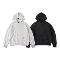 2021 USA Fashion Automne Hiver 7ème lavé Bouton Vintage Sweat à capuche surdimensionnée Sweat-shirt à capuche chaude chaude