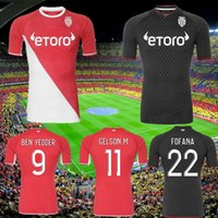 2021 2022 Como Monaco Futebol Jerseys Volland Jovetic Maillots De Foot Collector 21 22 B.BadiaShile Ben Yedder Gelson Fabreags Golovin Men Kids Football Shirt