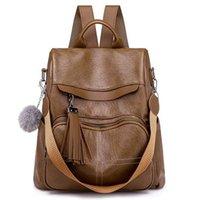 حقائب ريال صورة ماركة حقيبة الظهر للنساء الطبيعية لينة جلد سيدة حزمة عارضة الإناث الجملة البني اللون الأسود