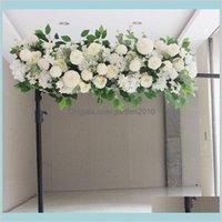 Dekoratif Çiçekler Çelenkler Şenlikli Parti Malzemeleri Ev Bahçe Flone Yapay Sahte Satır Düğün Kemeri Çiçek Dekorasyon Sahne Backdro