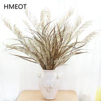 Large Pampas Grass Tall White Dried Flowers Artificial Plants Interior Home Accessories Leaf Wedding Bouquet Po Props Decorative & Wreaths