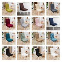 غطاء كرسي الطعام البوليستر 14 لون الغلاف حامي حالة تمتد للمطبخ كرسي مقعد فندق مأدبة مرونة كرسي غطاء T2I51813