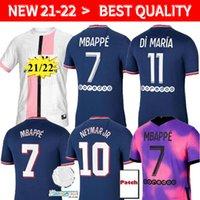 Mbappe Verratti Kean Soccer Jersey 2021 2022 Versão do Jogador Di Maria Kimpembe Marquinhos Icardi Pré-jogo Camisa de Futebol 20 21 22 Men + Kids Kit