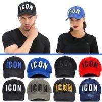 2021 판매 아이콘 망 디자이너 모자 Casquette D2 럭셔리 자수 모자 조정 가능한 7 컬러 모자 편지 뒤에