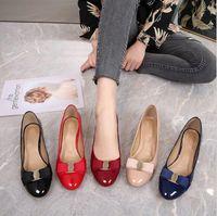 Chaussures de ballet femmes designer luxe talons hauts ronds plate-forme plate-forme plate-forme plate cuir robe chaussures chaussures chaussures de chaine