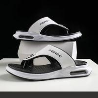 2021 nuovi uomini infradito scarpe di alta qualità Summer Beach Pantofole da uomo di alta qualità Casual Beach Sandal Air Cushion Elasticità Scarpe di lusso