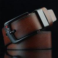 PD001 Cummerbunds 바늘 버클 캐주얼 남성 브라운 블랙 커피 벨트 3 색 좋은 품질