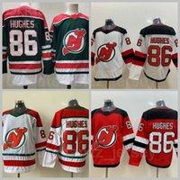 New Jersey Devils Hóquei no gelo 86 Jack Hughes Jersey Reverse Retrô Casa Vermelho Vermelho Vermelho Verde All Stitched Sports Top Quality à venda