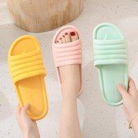 Slippers Shoes For Women 2021 Summer Indoor Floor Flat Sandals Platform Flip Flops Female Non-slip Bathroom Home