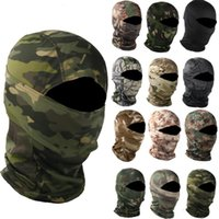 Cycling Caps & Masks Military Camouflage Balaclava Outdoor Fishing Hunting Hood Protection Army Tactical Head Face Mask Cover