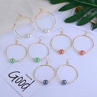 Dangle Hoop Earrings of Simple Polynesian Hawaiian Jewelry Chandelier Wholesale Boho Samoan Colorful Pearl for Women