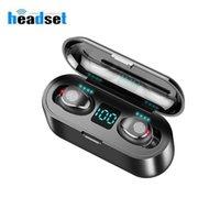 F9 Bluetooth V5.0 Earphone F9-5C Wireless Earphones Stereo Sport mini Headphones Earbuds gaming headset 2000 mAh LED Power display