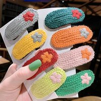 Hair Accessories Hairpin Knitted Set Girl Side Clip Hairline Card Baby Band Headbands