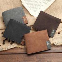 الرجال القماش نمط بو الجلود قصيرة محفظة محفظة حامل بطاقة مصمم مجلد الرجال محافظ