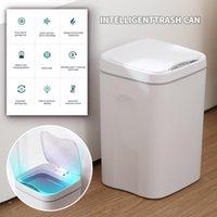 Capteur de fiche US Poubelle automatique sans contact avec couvercle Cuisine Salle de bain Bureau de séjour # 35 Bacs de déchets