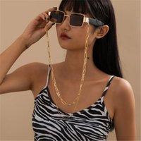 Tassel multicouche Chaîne Chunky Chuny Jureglass Chaînes pour femmes Goth Goth Lunettes Lany Lanière antidérapante Gold Color Eyewear Accessoires
