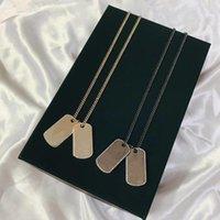 Venda pingente retangular com letras colares de moda colar para homem mulher designer jóias altamente qualidade 2 modelo opcional e caixa especial