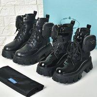 Neueste Männer und Frauen Echtes Leder Plattform Neueste Tasche Boot Top Casual Schuhe Puls Triple Martin Stiefel Größe 35-45