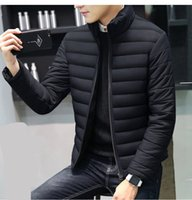 Men's & Faux Leather Stand Collar Winter Warm Designer Casual Jacket Light Outerwear Fashion Men Clothing