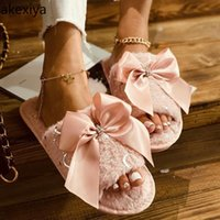 Осень / зима женская обувь 2021Fashion плюшевые тапочки нескользящие теплые хлопковые крытые элегантный лук женщины