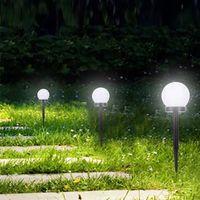 LED Güneş Lambaları Powered Bahçe Işık Su Geçirmez Ampul Açık Kamp Çimenleri Işıkları Gece Aydınlatma Solarda Peyzaj Lamba Yard Patio Gardens Geçit