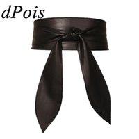 Belts Women Ladies Solid Color Soft PU Leather Waist Belt Self Tie Bowknot Long Sash For Women's Dress Bridal Wedding